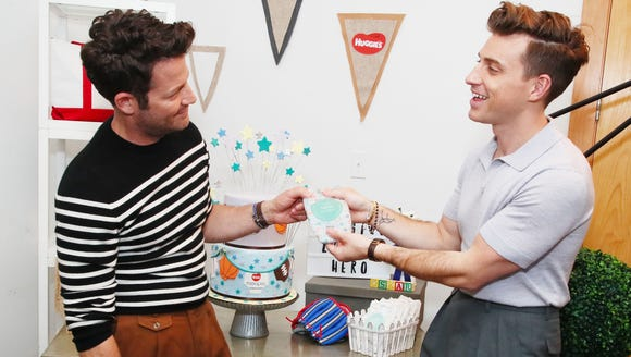 Nate Berkus and husband Jeremiah Brent celebrate their son Oskar's birth and the launch of Huggies Made by You custom diapers.