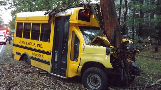 A school bus was involved in an accident Tuesday in Mahwah.