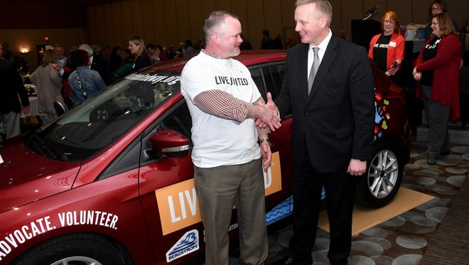 The Oshkosh Area United Way gives away a 2017 Ford Focus at its annual community celebration.