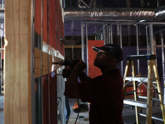 Work continues on businesses in the Daniels Marketplace