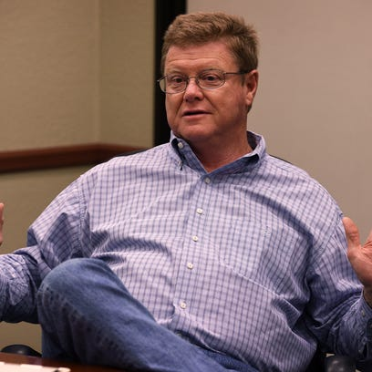 Jason Bean/RGJ file Rep. Mark Amodei disputes being described by the Center for American Progress as part of Congress? ?anti-parks caucus.? U.S. Congressman Mark Amodei speaks to the Reno Gazette-Journal editorial board on Aug. 25, 2015.