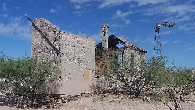Remnants of the Picacho Stagecoach station stand along the Butterfield Trail.