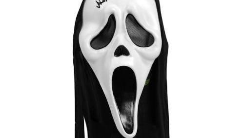 Signed 'Scream' mask