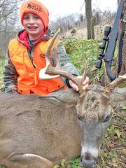 Parker Wilson, 10, of Cameron shot this buck on opening day of the 2016 Wisconsin gun deer season while hunting with his father in Buffalo County.