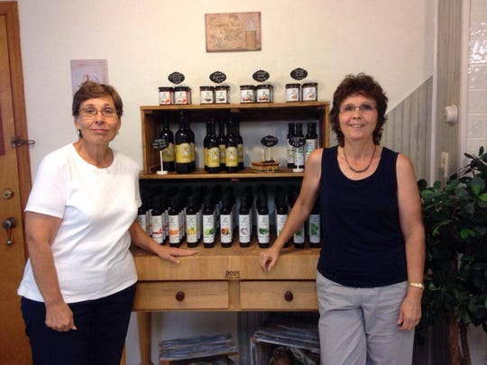 Rita Vranesic (left) and Laura Zeppos (right) are the owners of The Aegean Table.