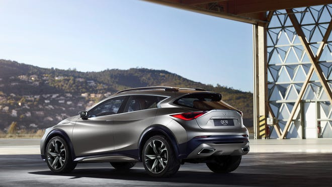 The Infiniti QX30 compact  SUV concept car is expected to be very similar to an upcoming production model.