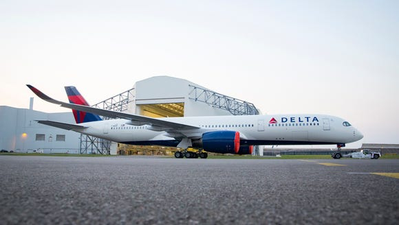 Delta Air Lines provided this image of its first Airbus