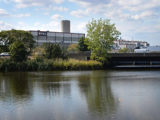 The Bergen Generating Station on Overpeck Creek in