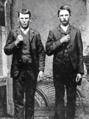 Jesse, left, and Frank James, right may have lived in Deer Lodge, Montana Territory, for a few months.