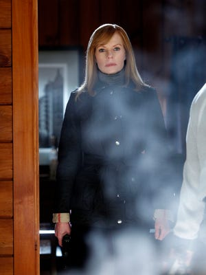 Marg Helgenberger as Catherine Willows in her last appearance on 'CSI.' She returns in Season 14 for a special appearance in episode 300.