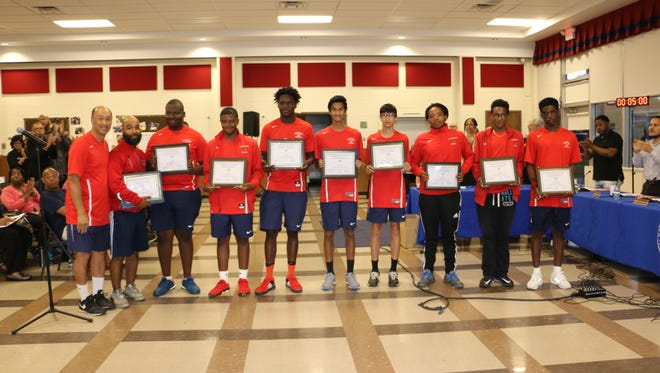 The Plainfield boys tennis team was recently honored by the Board of Education.