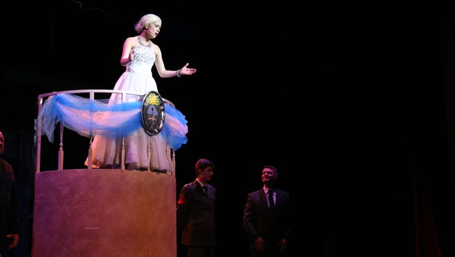 "Crystal Jones plays Eva Peron in The Stage Door production of ""Evita"""