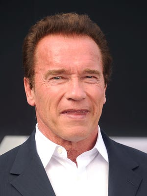 Arnold Schwarzenegger arrives at the Los Angeles premiere of  'Terminator Genisys.'