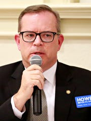 10th Congressional district candidate Alan Howe during the democratic debate for three contested Democratic primary races hosted by the York County Young Democrats at Marketview Arts in York City, Thursday, April 26, 2018. Dawn J. Sagert photo