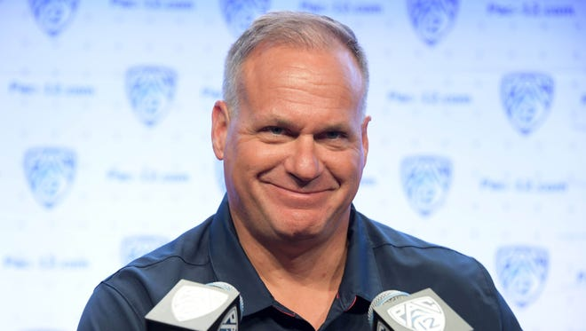 Arizona Wildcats coach Rich Rodriguez during Pac-12 media days.