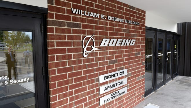 The new entrance of the renamed William E. Boeing Building was unveiled during a celebration of the aerospace company's 100th anniversary in 2016 at the Heath-Newark-Licking County Port Authority.