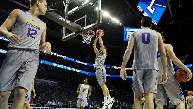 Lipscomb practices to play North Carolina in the 2018 NCAA Men's Basketball TournamentThursday March 15, 2018, in Charlotte, NC