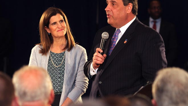 First Lady Mary Pat Christie and her husband, New Jersey Governor Chris Christie.