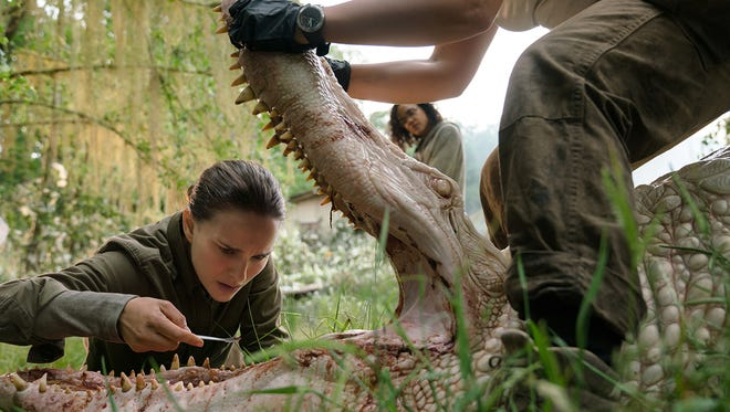 "Natalie Portman and Tessa Thompson in ""Annihilation,"" based on the novel by Tallahassee author Jeff VanderMeer."