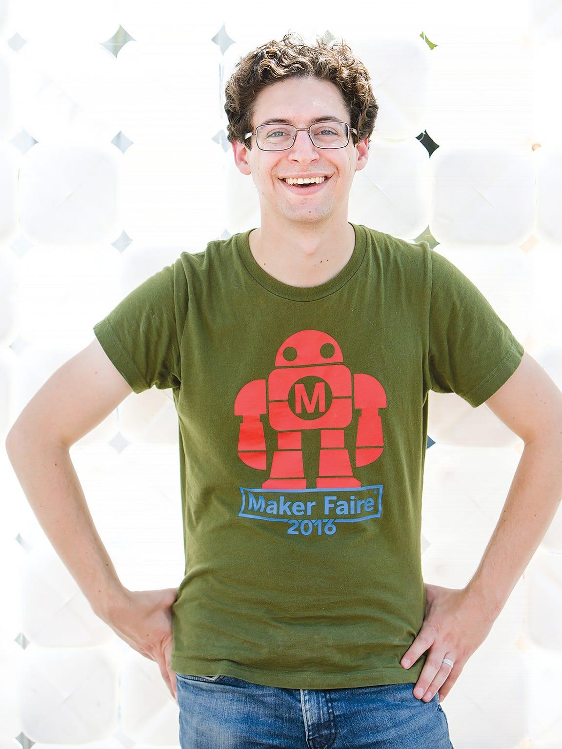 Daniel Schneiderman, a research associate at RIT, leads