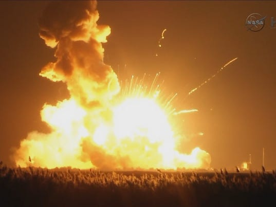 Unmanned NASA rocket explodes on launch