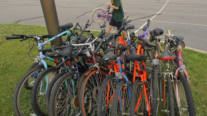 This file photo shows bicycles destined for Pedals for Progress, which collects used bicycles that will be sent to needy people overseas, in developing countries. A Bike Swap, will be held at the Central Avenue School on Saturday with any leftover bikes going to Pedals for Progress.