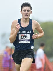 Rutherford's Dan Sullivan finished first in the Colonial Division race at the NJIC Cross Country Championship at Garret Mountain in Woodland Park.