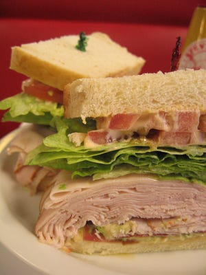 A turkey sandwich can look pretty good after flying 6 hours.