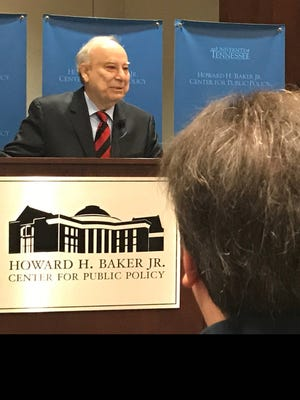 Akbar Ahmed spoke Wednesday on being Muslim today and the need to build bridges among religions in an age of uncertainty at the Howard H. Baker Jr. Center for Public Policy at the University of Tennessee.
