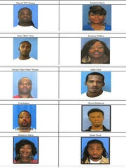 Some of the arrestees in Vicksburg's 'Operation Long Time Coming.'
