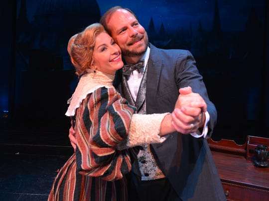 Brenda Sheets and Doug Grandey played Mr. and Mrs. Barnes in Cocoa Village Playhouse's April showing of Mary Poppins.