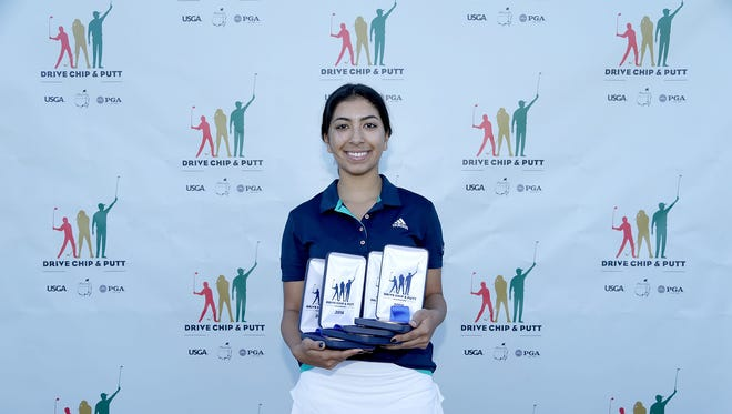 Oaks Christian sophomore Megan Ahmadi has earned a chance to compete in the finals of the Drive, Chip and Putt competition. The finals will be at Augusta National Golf Course, the Sunday before the 2017 Masters.