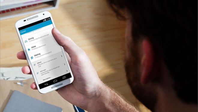 The second-generation Moto X smartphone from Motorola.