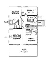 The open layout encourages relaxed gatherings in the kitchen and great room, which flow into one another.