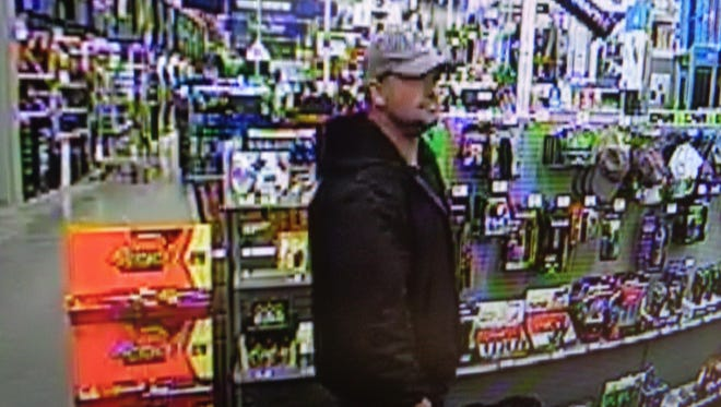 The suspect in Saturday's robbery at Lowe's.