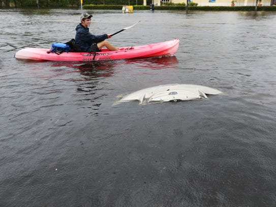 Severe flooding plagued south Fort Myers and most of