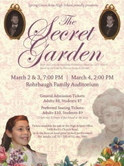 The Secret Garden will be performed at at Spring Grove