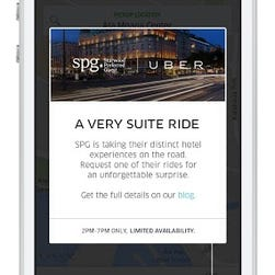 Starwood and Uber have teamed up to let travelers earn hotel points by riding Uber.