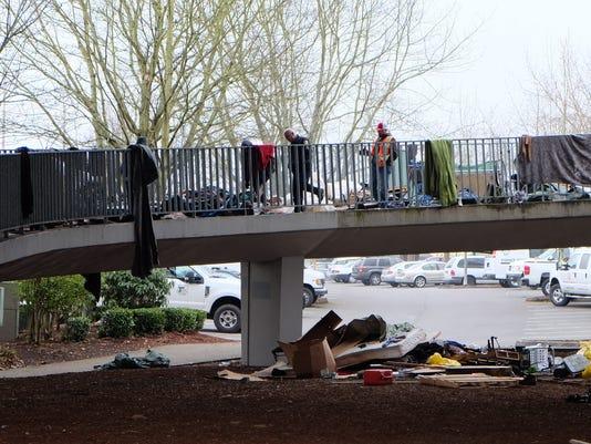 center street bridge homeless camp cleared