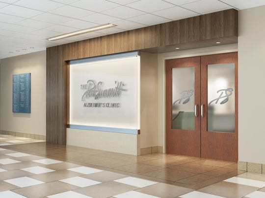 The front entry of the second-floor Pat Summitt Alzheimer's Clinic will be clearly marked.