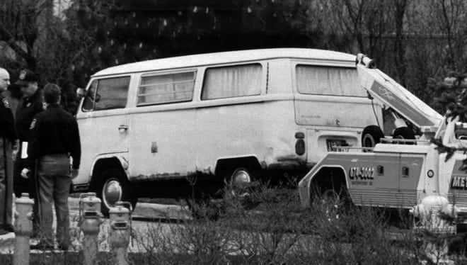 Dr. Jack Kevorkian's 1968 van is moved May 12, 1995, in Pontiac.