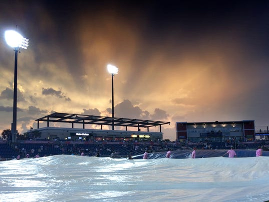 Blue Wahoos Rain Delay