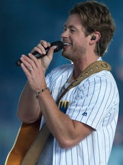 Country vocalist Brandon Lay, pictured, is currently touring as Kenny Chesney's opening act at outdoor stadiums. He will spend an off-night playing a free concert at the Rusty Rudder in Dewey Beach at 8 p.m. Sunday, June 3.