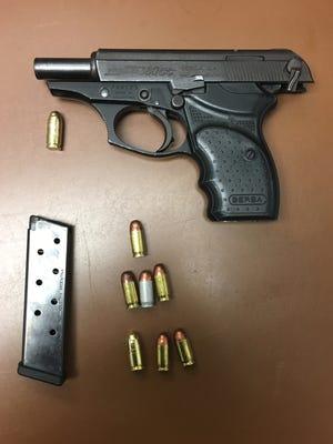 .380 caliber Bersa Thunder handgun found on a 16-year-old juvenile in Prospect Park.