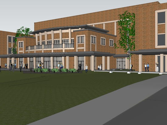 This artist's rendering shows what the front of Emens