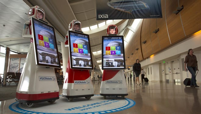 Robots are now available to assist travelers at Mineta San Jose International Airport.