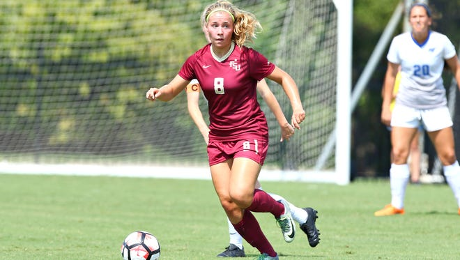 Heidi Kollanen dribbles out against Middle Tennessee. FSU dropped its first game of the season against South Alabama.
