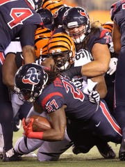 Cincinnati Bengals defensive tackle Geno Atkins wreaked havoc in the Houston backfield all game on Thursday night.