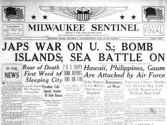 The Milwaukee Sentinel also blared news of the attack
