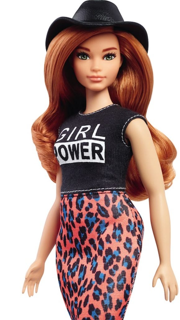 This curvy, red-headed Barbie was the best-selling